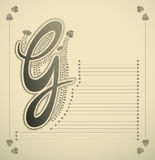 Ornamental letter - G Stock Photography