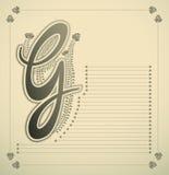 Ornamental letter - G Stock Photography