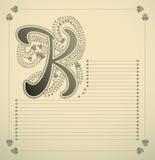 Ornamental letter - K Stock Photo