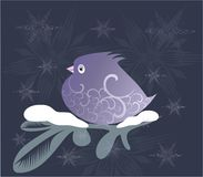 Ornamental lilac bird Stock Photography