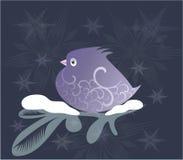 Ornamental lilac bird Stock Photography