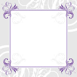 Ornamental lilac frame Royalty Free Stock Images