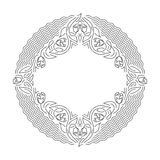 Ornamental line background, monoline style. Stock Photos