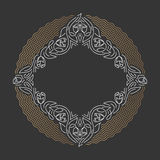 Ornamental line background, monoline style. Royalty Free Stock Images