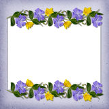 Ornamental line with wild flowers Stock Photography