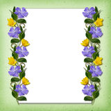 Ornamental line with wild flowers Stock Photos