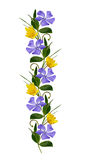 Ornamental line with wild flowers Royalty Free Stock Photo