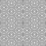 Ornamental linear pattern. Detailed vector illustration. Seamless black and white texture. Mandala design element. Stock Photo