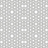 Ornamental linear pattern. Detailed vector illustration. Seamless black and white texture. Mandala design element. Stock Images