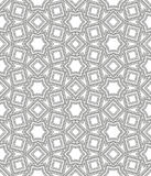 Ornamental linear pattern. Detailed vector illustration. Seamless black and white texture. Mandala design element. Stock Photography