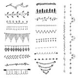 Ornamental lines and stripes doodle of free hand drawing sketch vector Stock Photography
