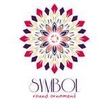 Ornamental logo template design. Vector circular Stock Photo