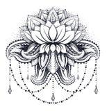 Ornamental Lotus de vecteur Images stock