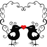 Ornamental loving birds Royalty Free Stock Image