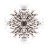 Ornamental mandala. Original hand draw and computer collage. Stock Photos