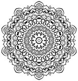 Ornamental Mandala. Ornamental round mandala. Geometric circle element made in . Perfect for any other kind of design, birthday and other holiday, kaleidoscope Stock Images
