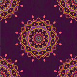 Ornamental mandala seamless pattern Royalty Free Stock Images