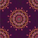 Ornamental mandala seamless pattern Royalty Free Stock Images