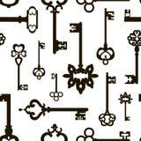 Ornamental medieval vintage keys pattern Royalty Free Stock Photos