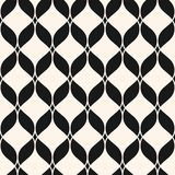 Ornamental mesh pattern with wavy lines, delicate lattice, curved shapes, weave, net. Stock Image