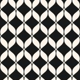 Vector ornamental mesh seamless pattern. Delicate lattice, weave. Ornamental mesh seamless pattern. Abstract graphic monochrome background with wavy lines Royalty Free Stock Image