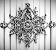Ornamental on metal background Stock Photo