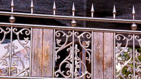 Ornamental metal fence. Video shift motion stock footage