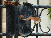 Ornamental Metal Gate Latch Royalty Free Stock Images