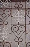 Ornamental metal lattice Stock Photo