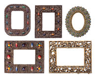 Ornamental metal picture frames pack Royalty Free Stock Photos