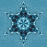 Ornamental miracle snowflake mandala and fractal effect in russian style. Miracle snowflake mandala and fractal effect in russian style royalty free stock photography