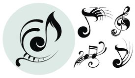 Ornamental music notes Royalty Free Stock Photo