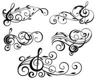 Ornamental music notes vector illustration