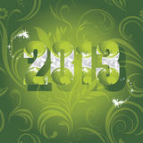 Ornamental New Year background. Illustration Royalty Free Stock Images