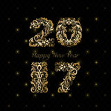 Ornamental new year card Stock Photography