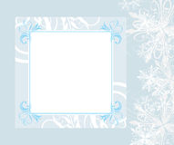 Ornamental New Year frame with snowflakes Stock Photo
