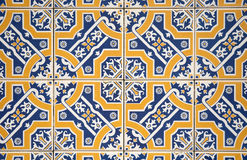 Ornamental old tiles. Ornamental old typical tiles from Portugal Stock Images