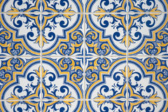 Ornamental old tiles. Ornamental old typical tiles from Portugal Stock Photography