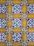 Ornamental old tiles. Ornamental old typical tiles from Portugal Stock Photo