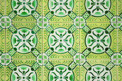 Ornamental old tiles. Ornamental old typical tiles from Portugal Royalty Free Stock Photography