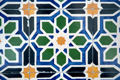 Ornamental old typical tiles Stock Photos