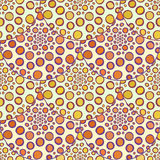 Ornamental orange pattern. Vector autumn polka dots background. Royalty Free Stock Images
