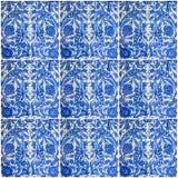 Ornamental oriental background. Blue ceramic tile Turkish Royalty Free Stock Photos