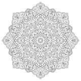 Ornamental oriental mandala. Vector filigree mandala with abstract elements isolated on white background. Oriental ethnic ornament. Template for carpet and any Royalty Free Stock Photo