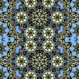 Ornamental ornate tribal style seamless wallpaper Stock Images