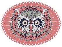 Ornamental Owl Head Stock Photo