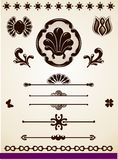 Ornamental page decorations and dividers Royalty Free Stock Photography