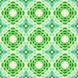 Ornamental painted  kaleidoscopic  pattern tile Royalty Free Stock Image