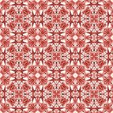 Ornamental painted  kaleidoscopic  pattern tile Royalty Free Stock Images