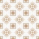 Ornamental painted  kaleidoscopic  pattern tile Royalty Free Stock Photos